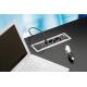 Mediaport Bachmann Power Frame 2 x 230V + 2 x RJ45, ramka srebrno-szara