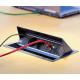 Mediaport Bachmann Coni srebrno-szary, 2x 230V + USB