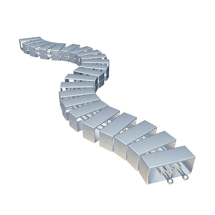 Wąż kablowy Bachmann Cube podłogowy, srebrny
