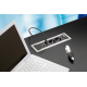 Mediaport Bachmann Power Frame 4 x 230V, ramka czarna