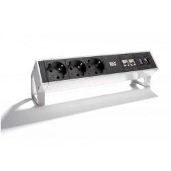Mediaport Bachmann Desk2 - 3x 230V + 2x RJ45 + HDMI + USB