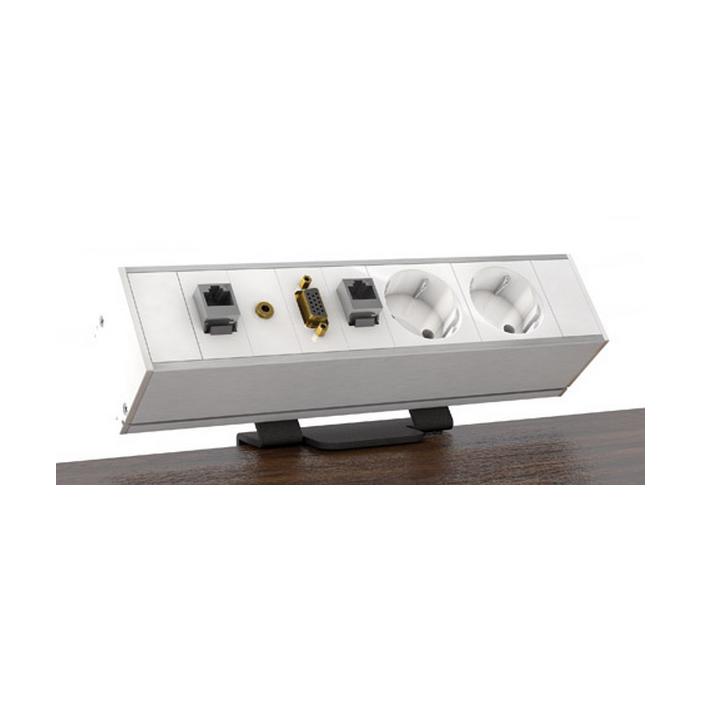Kindermann CablePort Desk, 4-modułowy, do blatu 10-40mm