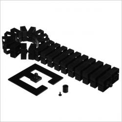 Kręgosłup na kable Quadro-Set,czarny (montaż pionowy)