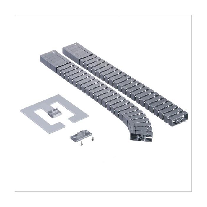 Kręgosłup do kabli Flex II-Set, srebrny (montaż pionowy)