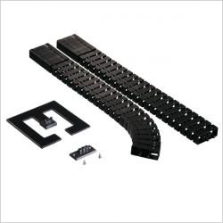 Kręgosłup do kabli Flex II-Set, czarny (montaż pionowy)
