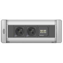 Mediaport obrotowy AH Meyer Turn Comfort - 2x 230V + 2x RJ45