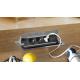 Mediaport Bachmann Coni, stalowy, 3x 230V