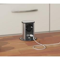 Bachmann Elevator - gniazdo blatowe z ładowarką USB