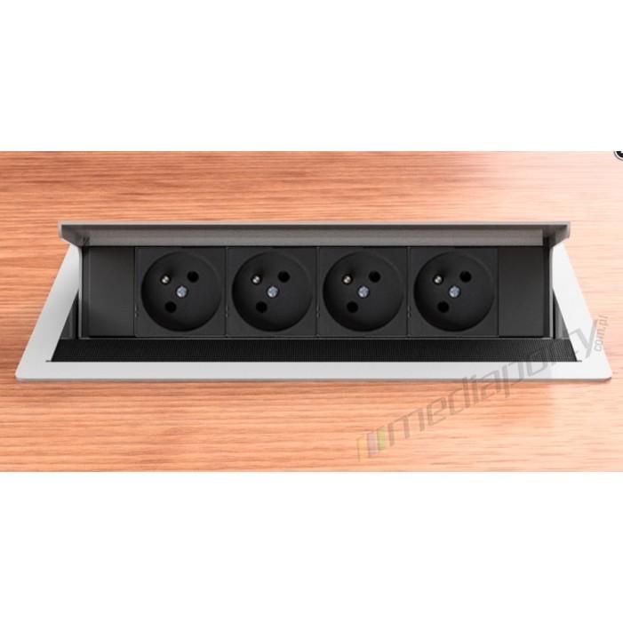 Mediaport INTEGRA - 4x230V srebrno-szary