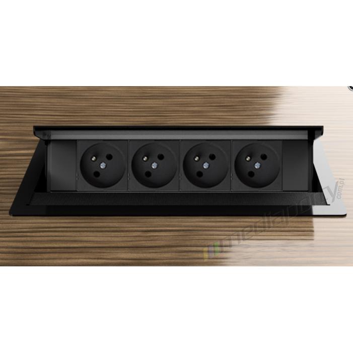 Mediaport INTEGRA - 4x230V czarny