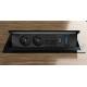 Integra multimedia pro - 2x230V, 2xRJ45, 1xHDMI, 1xVGA czarny