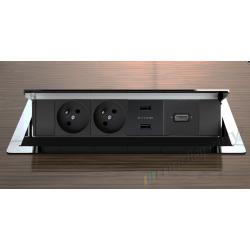Mediaport chromowany z ładowarką i HDMI
