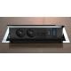 Mediaport INTEGRA - 2x230V, 2xRJ45, 1xHDMI, 1xVGA chrom