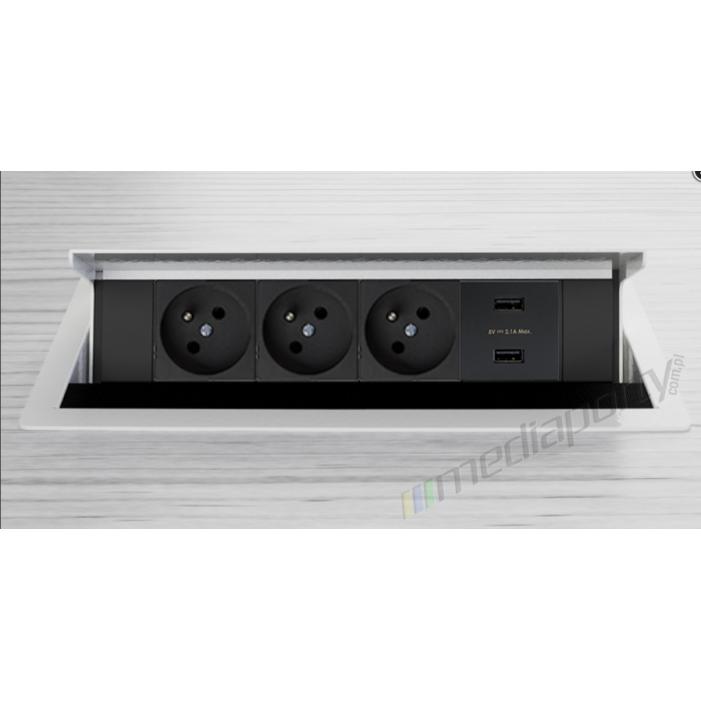Mediaport INTEGRA - 3x230V charger white