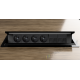 Mediaport INTEGRA - 4x230V, 4xRJ45, czarny