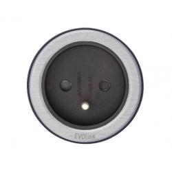 Evoline One 1 gniazdo 230 V, STAL INOX ring, mediaport Schulte Elektrotechnik