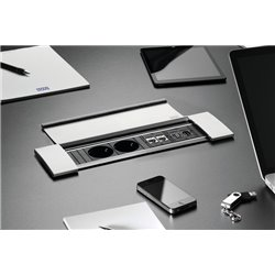 Bachmann Power Frame Cover - 2x230V, 2xRJ45, 1xHDMI, 1xUSB