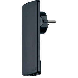 Płaska wtyczka Schulte EVOline Plug, czarna