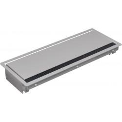Bachmann Coni, 2x 230V + 2x RJ45 + HDMI + USB + VGA + mini jack, srebrny